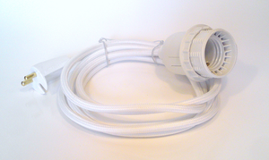 Dezall Sladd - vit textil - plugg